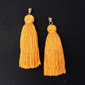 Spice Girl Gold Stud Tassel Earring