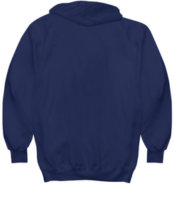 I've Gone Plastic Free Hoodie - Navy With Pink Logo