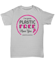 I've Gone Plastic Free T-Shirt - Grey With Pink Logo