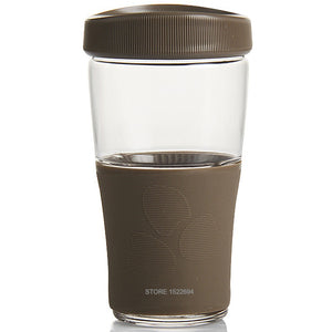 Reusable Coffee Cup With Leakproof Cover, 500ml