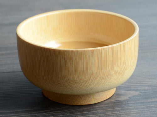 Small Natural Wooden Bamboo Bowls, Japanese Design
