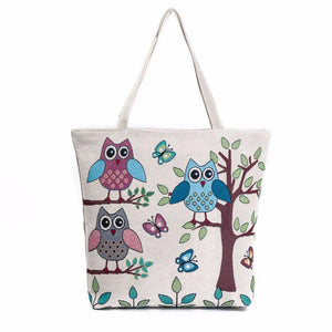 Reusable Owl Shopping Bag