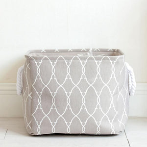 Grey Canvas Storage Basket