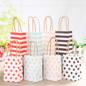 20 x Small Dotty or Stripey Gift Bags
