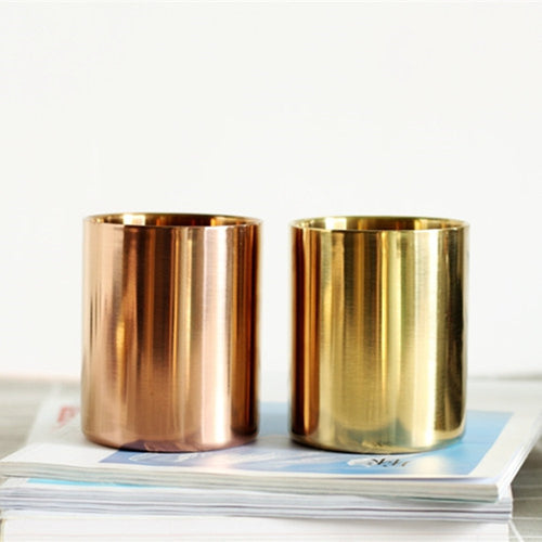 Stainless Steel Cylinder Pen Holders