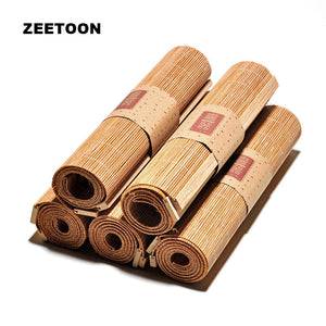 Japanese Zen Bamboo Weave Table Mats and Runners