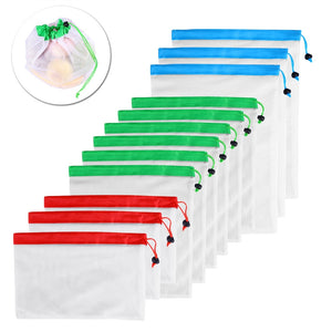 12 x Reusable Washable Mesh Produce Bags