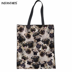 Dog Print Tote Shopping Bag