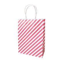 10 x Stripy Paper Gift Bags With Handles