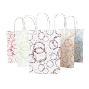 10 x Circles Paper Bags With Handles