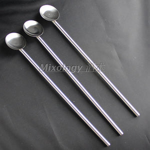 5 x Stainless Steel Drinking Straws with Spoons