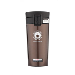 Vacuum Insulated Stainless Steel Travel Coffee Mug with Easy-clean Lid Leak-proof One Handed Operation