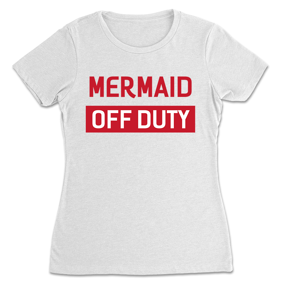 Mermaid Off Duty White T-shirt Lady mockup