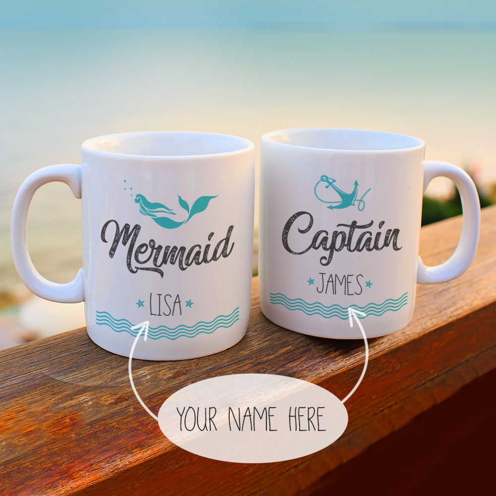 Mermaid coffee Captain Mug Set