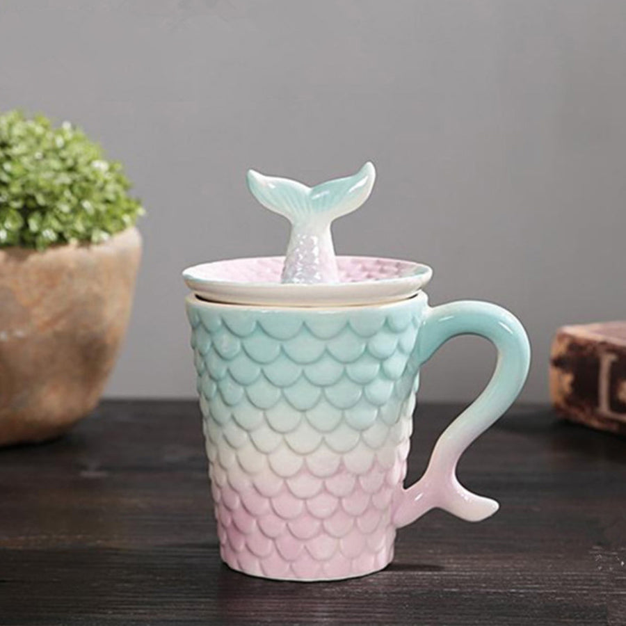 Mermaid Tea Cup With Lid