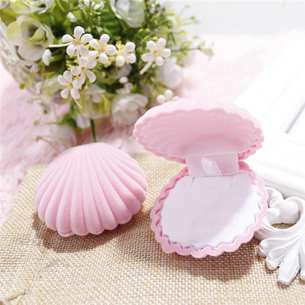 mermaid pink Shell Jewelry box