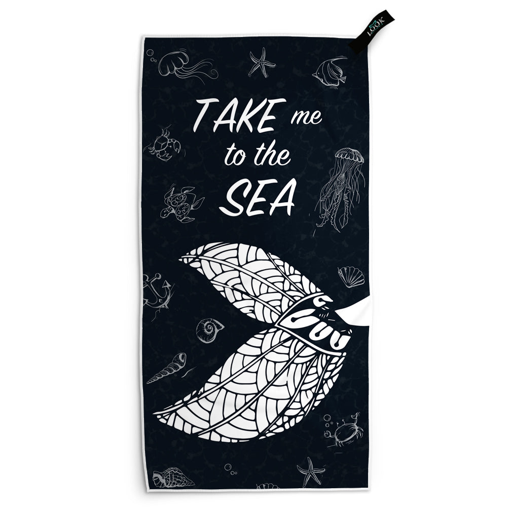Take Me To The Sea Mermaid Microfiber Towel