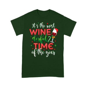 It's The Most Winederful Time Of The Year Funny Christmas  Tee Shirt Gift For Christmas