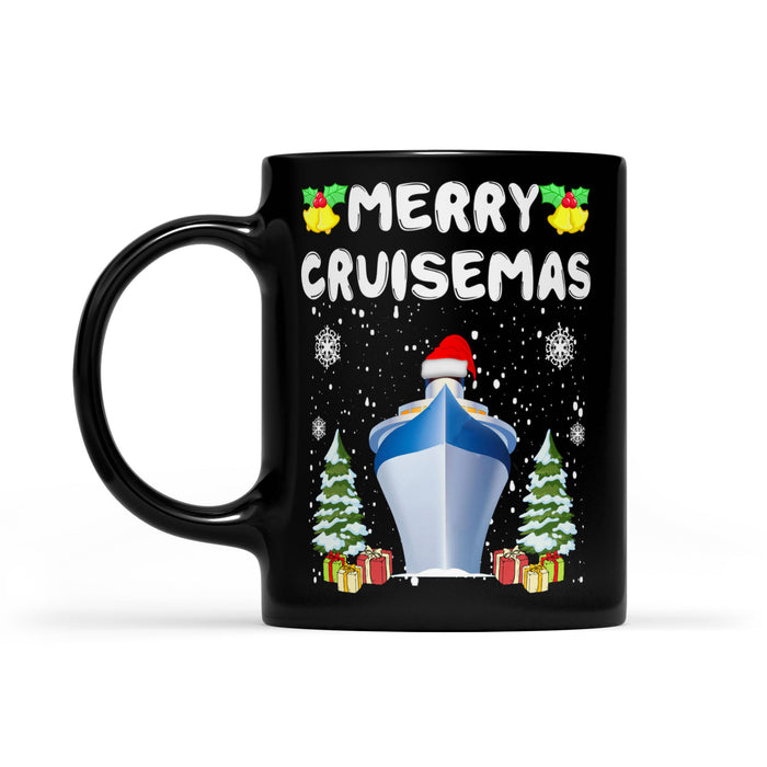 Merry Cruisemas Funny Matching Family Group Gift  Black Mug Gift For Christmas