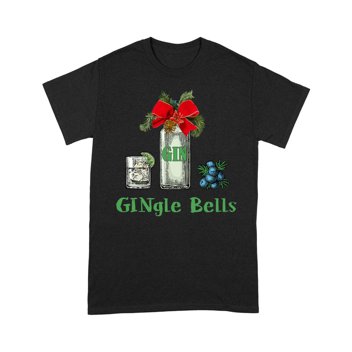 Gingle Bells Gin Alcohol Funny Jingle Bells Christmas  Tee Shirt Gift For Christmas