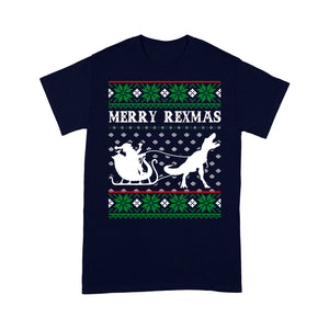 Merry Rex-Mas Funny Christmas T-rex Dinosaur Gift Sweater Tee Shirt Gift For Christmas