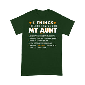 ̀5 things you should know about my aunt t-shirt - Standard T-shirt Tee Shirt Gift For Christmas