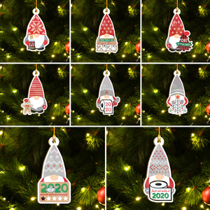 2020 Stayed Gnome Ornaments Set, Funny Christmas Gnome Ornaments Set, Merry Christmas Ornament Family Gift Idea