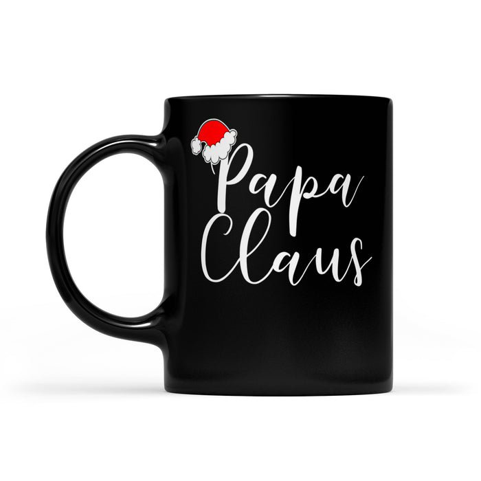 Papa Claus Sweet Christmas Gift  Black Mug Gift For Christmas