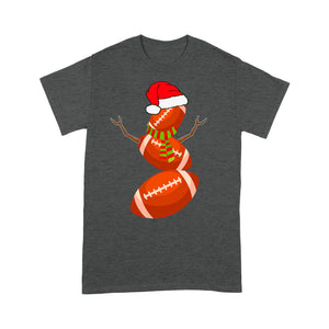 Football Snowman Funny Christmas Gift Tee Shirt Gift For Christmas