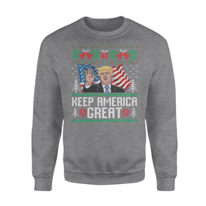 Donald Trump Make America Great Again Ugly Christmas Sweater Christmas Sweatshir - Funny sweatshirt gifts christmas ugly sweater for men and women