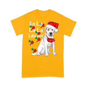 Labrador Lovers' Funny Christmas Outfit Fa La La La Labrador  Tee Shirt Gift For Christmas
