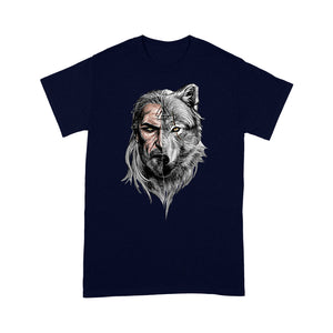 Viking T-shirt, Viking Warrior T-shirt - Viking Wolf T-shirt, Family Gift Idea For Men