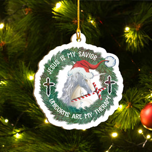 Xmas Unicorn Ornaments Set, Merry Christmas Ornaments Set, Funny Christmas Ornaments Family Gift Idea For Unicorn Lover