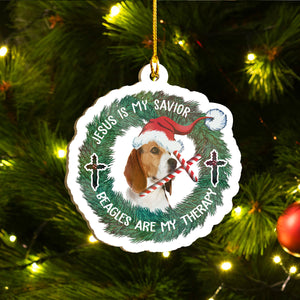 Xmas Beagle Ornaments Set, Merry Woofmas Ornaments Set, Funny Christmas Ornaments Family Gift Idea For Dog Lover