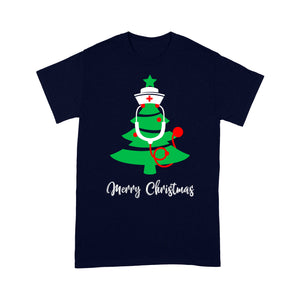 Merry Christmas Stethoscope Nurse Christmas Tree  Tee Shirt Gift For Christmas