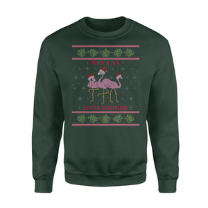 Flock' in in a winter wonderland funny sweatshirt gifts christmas ugly sweater for men and women