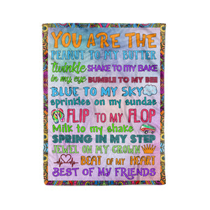 You are the peanut to my butter Merry Christmas fleece blanket unique Christmas family gift idea