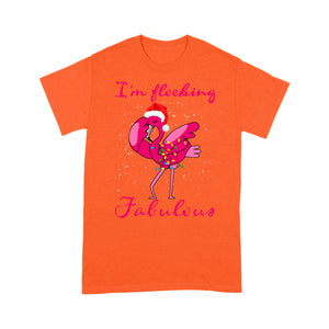 I'm Flocking Fabulous Funny Christmas Dabbing Flamingo  Tee Shirt Gift For Christmas