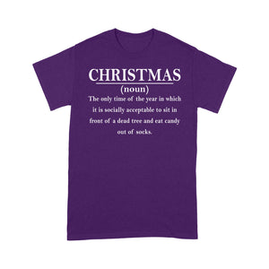 Christmas Definition Quote Outfit Funny Christmas Tee Shirt Gift For Christmas