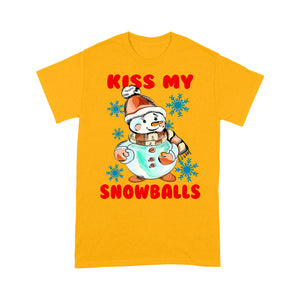 Kiss My Snowball Funny Christmas Pun  Tee Shirt Gift For Christmas