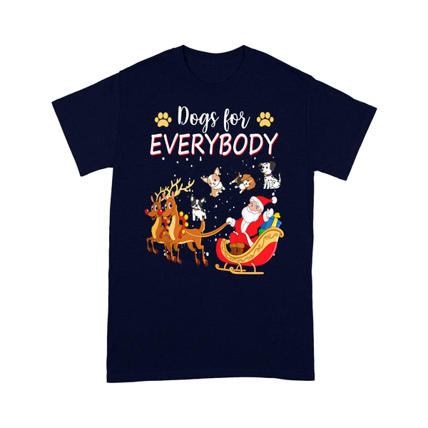 Dogs For Everybody Funny Christmas Outfit For Cute Dog Lover  Tee Shirt Gift For Christmas
