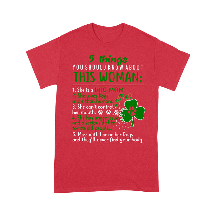 5 things you should know about this woman T shirt irish gift patrick - Standard T-shirt Tee Shirt Gift For Christmas
