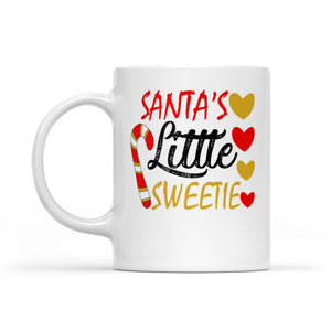 Santa's Little Sweetie Funny & Cute Christmas Gift -  White Mug Gift For Christmas