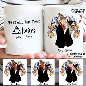 After all this time custom couple christmas mugs