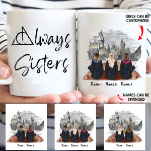 Always sisters personalized friends Halloween 11oz White Mug