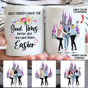 Best Friends Make The Good Times Better Personalized Friends 11oz White Mug