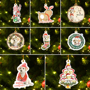Christmas Dog Ornaments Set, Merry Woofmas Ornaments Set, Funny Christmas Ornaments Family Gift Idea For Labrador Lover