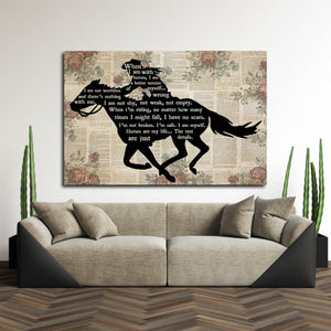 Cowgirl Riding Horse – When I Am With Horse, I Am A Better Version Of Myself, Cowgirl Canvas, Gift for Her