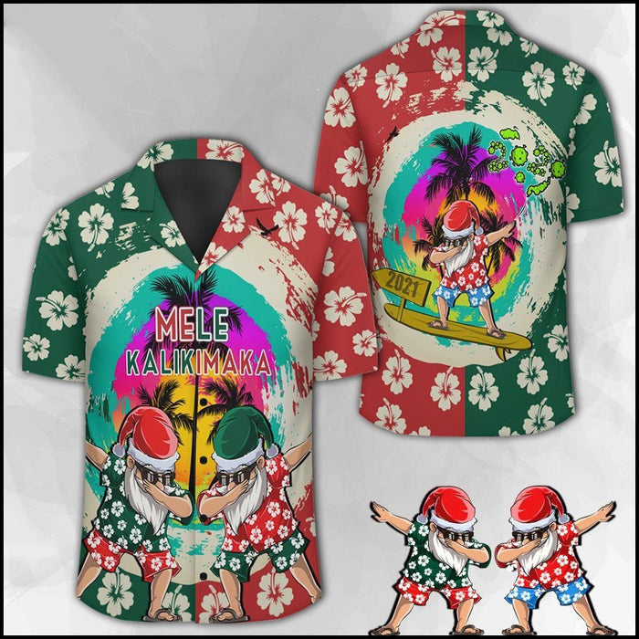 Mele Kalikimaka Funny Christmas Surfing Santa Hawaiian T-shirt, Meaningful Gift For You And Your Family
