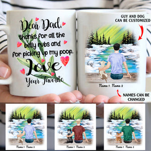Dear Dad Thank For Picking Up My Poop Personalized Dog Dad 11oz White Mug
